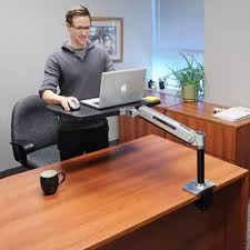 Lx Hd Sit Stand Desk Mount Lcd Arm Choosing A Monitor Arm How To Get The Right Fit For Your Monitor