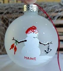 boathouse row painted ornament glass custom by beth