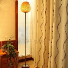 Bamboo Floor Lamp Simple Designed Bamboo Weaving Shade Floor Lamp