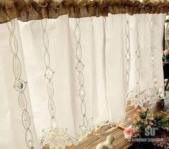 Cafe Curtains For Bathroom Burlap Cafe Curtains U2013 Teawing Co