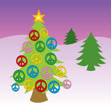 peace sign tree stock vector illustration of ornaments