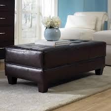 Black Leather Ottoman Black Tufted Ottoman Coffee Table Furniture Decor Trend