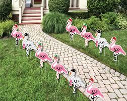 flamingo yard signs etsy