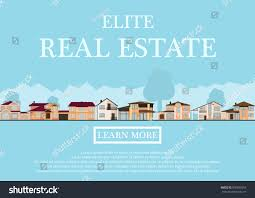 vector illustration cute houses rent sale stock vector 596652053