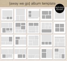 scrapbook album 12x12 away we go album template 12x12 travel album