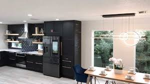 ikea colored kitchen cabinets customer remodels ikea kitchen with all black design