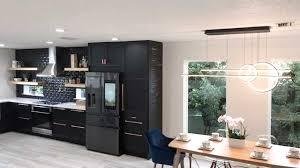 ikea light oak kitchen cabinets customer remodels ikea kitchen with all black design