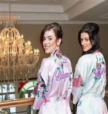 wedding dressing gowns personalised bridal dressing gowns personalised bridal bathrobes