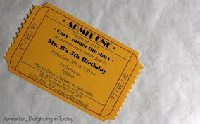 Movie Ticket Wedding Invitations Movie Ticket Invitation Maker Crate