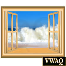 waves 3d vinyl decal window frame scene wall decal