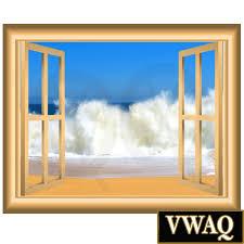 ocean waves 3d vinyl decal window frame beach scene wall decal