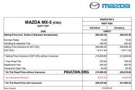 mazda small car price mazda mx 5 in malaysia 2 0 auto high spec rm220k
