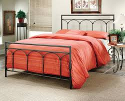 iron bed frame queen queen metal bed with frame black finish