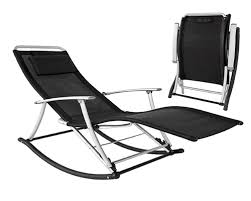 rocking recliner garden chair with folding aluminium or wood frame