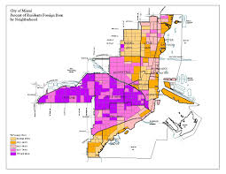 Little Havana Miami Map by Planning Demographics 2000