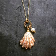 shell necklace images Dainty kitten paw shell necklace JPG