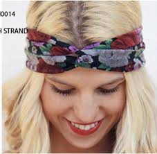 fabric headband new wholesale retail fashion cotton floral fabric twist turban