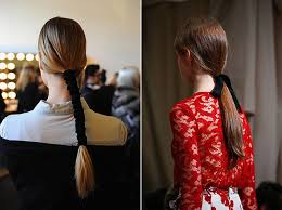 ribbon ponytail ponytail inspiration room for tuesday