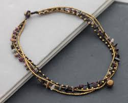 multi layered beaded necklace images Egret jewellery uk layered rough agate crystal choker beaded jpg