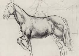 sketch for the painting bathing the red horse 1912 kuzma petrov