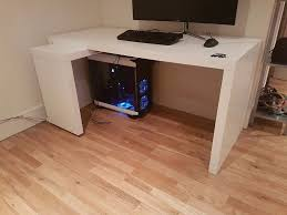 Ikea White Laminate Flooring Malm Desk With Pull Out Panel Ikea White Or Best Offer In West