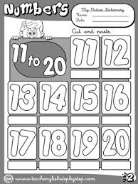 numbers 1 to 10 picture dictionary b u0026w version funtastic