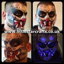 halloween lights uk predator face paint design little star faces halloween sfx uv glow
