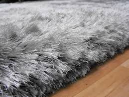 Grey Shaggy Rugs Grey High Pile Rug Roselawnlutheran