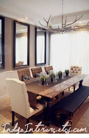 Dining Room Set With Bench Black And Espresso Farmhouse Reclaimed Wood Plank Style Dining