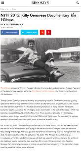 the witness u2013 a documentary about kitty genovese