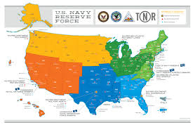 Map Of The United States With Compass by Us Navy Reserve Default