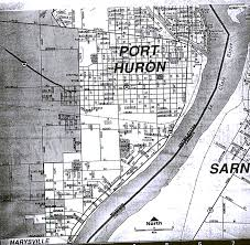 Port Huron Michigan Map by St Clair County Maps
