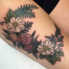 flower tattoos on the thigh thigh tattoos flowers thigh flower