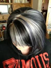 black low lights for grey grey streaks in dark hair google search my style pinterest