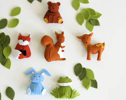 pattern felt ornaments 5 animals woodland mobile diy crib