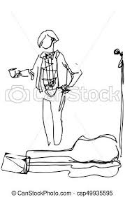 eps vectors of street musician with a cup of coffee at the