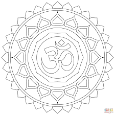 om mandala coloring page free printable coloring pages