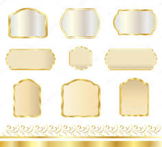 vintage gold frames set set of frames and borders isolated on