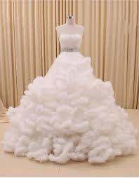 wedding dresses fluffy strapless shooting fluffy gorgeous color wedding dress