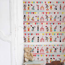 Bedroom Wallpaper For Kids Gorgeous And Cute Self Adhesive Children U0027s Circus Wallpaper For