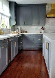 kitchens with grey wood floors kitchens with wood floors and white