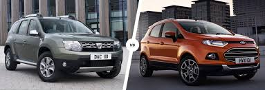 nissan juke vs ford ecosport dacia duster vs ford ecosport suv comparison carwow