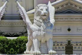 marble lions for sale white concrete marble winged lion statue for front porch marble