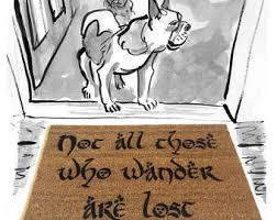 Geek Doormat Dangerous Business Going Out Your Door Gandalf Geek Doormat
