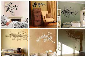 wall decor ideas for bedroom modern flowers bedroom wall with pic