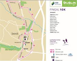 Running Map Route by Sse Airtricty Dublin Marathon 2017 Fingal 10k Sse Airtricty