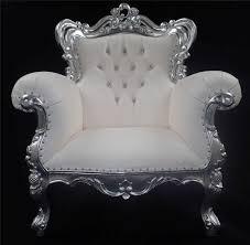 White Leather Arm Chair A A Antiqued Silver Leaf Louis Huge Arm Chair Shop Home Diva Shown
