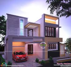 View House Plans by Modern House In Night View Kerala Home Design And Floor Plans