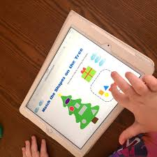 merry christmas preschool digital worksheet activity touch