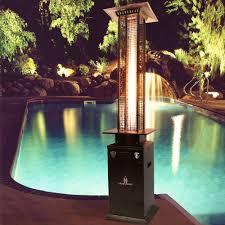 Patio Heater Glass Tube by Lava Heat Italia Quattro Hb Lp 45 000 Btu Quattro 7 Ft Patio Gas